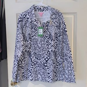 Lilly Pulitzer Popover with Tags! Navy and White!